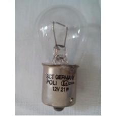 Автомобильная лампочка БЕЛАЯ SCT-GERMANY P21W 12V 21W BA15S